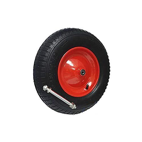 Schubkarrenrad mit Achse 4.80/400-8 Rad Reifen Luftrad Ersatzrad Gartenkarre Felge Luftbereift (4 Gewebeeinlagen (4PR) - 400x4LL/12)
