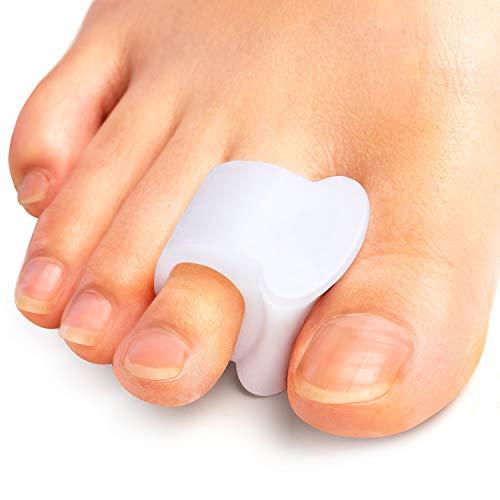 Kimihome 8 Pack Gel Toe Separators, Big Toe Separator Hammer Toe Straightener(1st/2nd Toe), Bunion Corrector to Correct Big Toe Bunion, Overlapping Toes