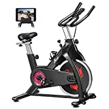 FISUP Exercise Bike Indoor Cycling Bike Cardio Stationary Bike with Belt Drive System and Comfortable Seat Cushion for Home Gym (28 LBS Flywheel; 440 LBS Weight Capacity)