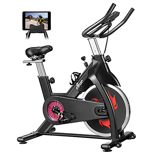 FISUP Exercise Bike 440 LBS Capacity Indoor Cycling Bike Stationary...