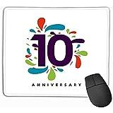 Mauspad Jahrestag Vorlage Design Gemälde Rechteck Gummi Mousepad 30X25CM