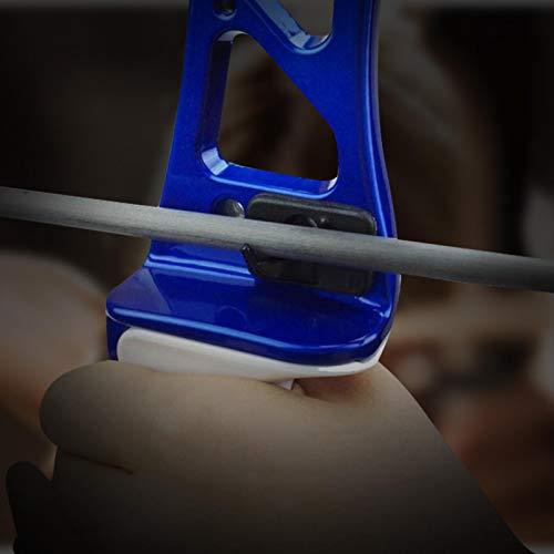 SALUTUYA Soporte de Flecha de Tiro con Arco, Soporte de Arco recurvo Adhesivo Instalación Simple para Soporte de Flecha de Mano Derecha Accesorio de orientación de Tiro de Caza más Flexible