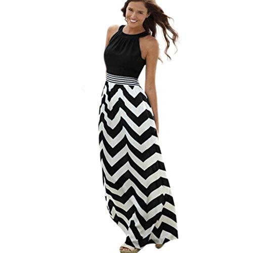 Retro Kleid Kleider Sommerkleid Damen Sommer Sexy Jersey Elegant Vintage Maxi Lang Abend Schöne Boho Festlich Tunika Swing Party Abendkleid Strandkleider