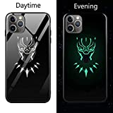 Coque de en Verre Lumineux pour iPhone 6 6S 7 8 Plus X XR XS XS Max 11 11 Pro 11 Pro Max Avengers Black Panther Iron Man Bat Spider Man iPhone 11 1