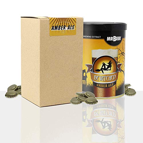 #My Brewery DRINK YOUR OWN BEER Recarga de materias primas con extracto para Hacer Cerveza Amber Ale | Tu Primera Cerveza casera | 8 litros | Elabora Cerveza Artesanal