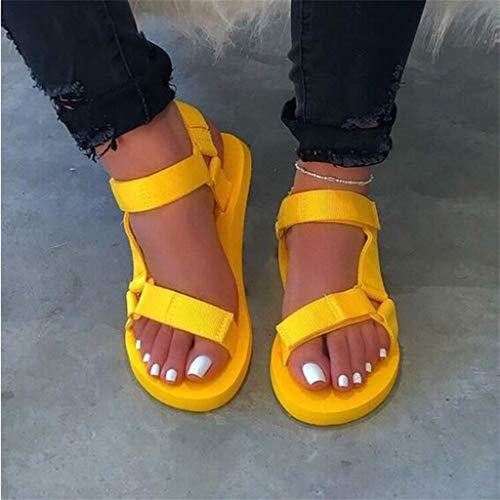 YUTRD Nvslx Nuevas Mujeres de Verano Sandalias de Deslizamiento Suave Mujer Mujer Hebilla Correa Espuma Suela Duradera Sandalias Damas al Aire Libre Casual Zapatos de Playa