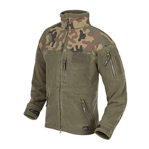 Helikon Herren Infanterie Duty Fleece Jacke Oliv Grün/PL Woodland Größe L