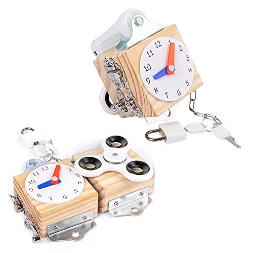 HONGBOZHIXUAN Kompass Pädagogisches Spielzeug Für Babys,Baby Spielzeug 1 Jahr,Montessori-Spielzeug Schule,Vorschulspielzeug,Busy Block Toys,Busy Cube Für Kinder,Activity Busy Boards Für Kleinkinder