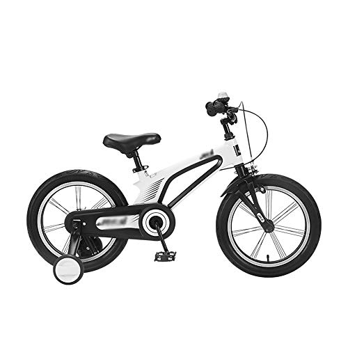 WMMING Kids' Bikes,Boys and Girls Road Bicycle,14/16inch with Training Wheels and Baskets for 3-5-8 Years Children Best Gift (Color : White, Size : 14INCH)
