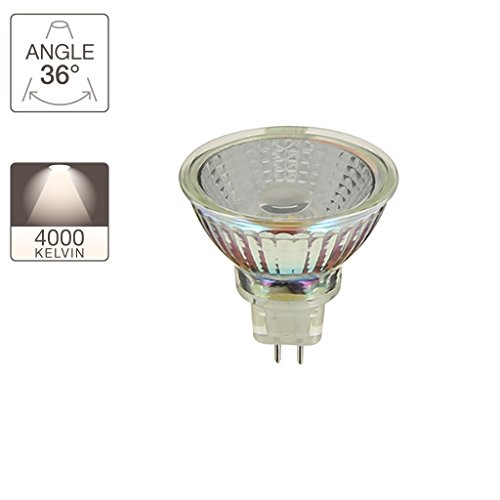 Ampoule LED spot, culot GU5.3, 5,5W cons. (35W eq.), lumière blanc neutre | Xanlite