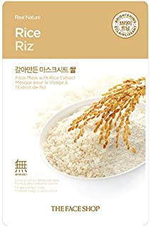 The Faceshop Real Nature Rice Face Mask, 20g (Pack of 1 sheet)