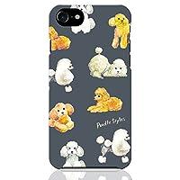 ブレインズ iPhone SE 第2世代 2020 iPhone8 iPhone7 ハード ケース カバー プードル ネイビー NoA グッズ トイプー トイプードル 犬 動物 子犬