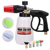 RUN STAR Pressure Washer Foam Cannon Snow Foam Lance 1/4' Quick Connector Foam Blaster Car Wash Sprayer with M22-14 Interface Foam Gun