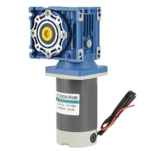 Wormwielmotor, DC 12 V / 24 V, 120 W, RV40, snelheid van de wormwielmotor regelbaar met de klok mee/tegen de klok in, zelfremmend (12V)