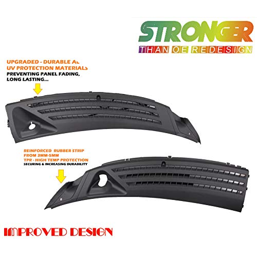For Fits 04-08 For Fitsd F-150 06-07 Lincoln Mark LT Left and Right Outer Exterior Windshield Window Wiper Cowl Cover Panel Set of 2pcs 2004 2005 2006 2007 2008