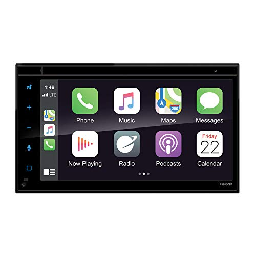 Planet Audio P9900CPA Apple Carplay Android Auto Car Multimedia Player - Double-Din, 6.75 Inch LCD Touchscreen, Bluetooth, MP3-USB-Aux in, Am/FM Car Radio, No CD-DVD, Multi Color Illumination