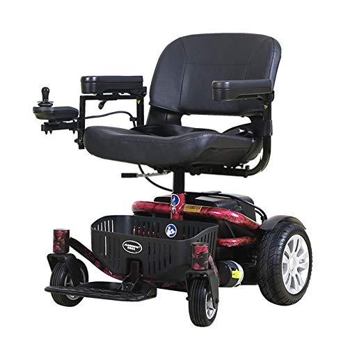 Zzuu Elektrische rolstoel/elektrische scooter voor senioren, opvouwbaar 20 ampère lithiumbatterij, 6 km/u, voor seniorenmobiel, voor dagelijks gebruik, inclusief