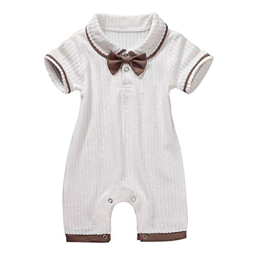 Perfeclan Nouveau-né Combi-Short Barboteuse Enfants Vêtements De Mode Confortables Chocolat - 66cm