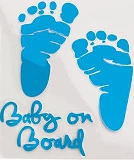 LESO © Baby On Board Car Sticker Aufkleber Fussabdrücke blau S025