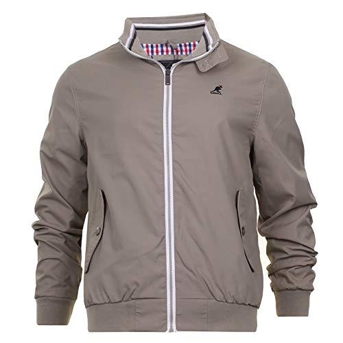 Kangol Mens Light Weight Jacket Mod Retro Harrington Golf Coat Checked Lined