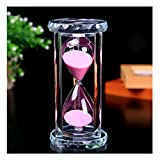 SZAT PRO Hourglass, Sand Timer 30 Min/Mins Hour Glass with Gift Box Package(Pink,Crystal)