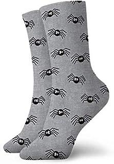 leyhjai, Arañas lindas Calcetines cortos grises de Halloween Calcetines deportivos lindos Calcetines deportivos de 30 cm Calcetines largos