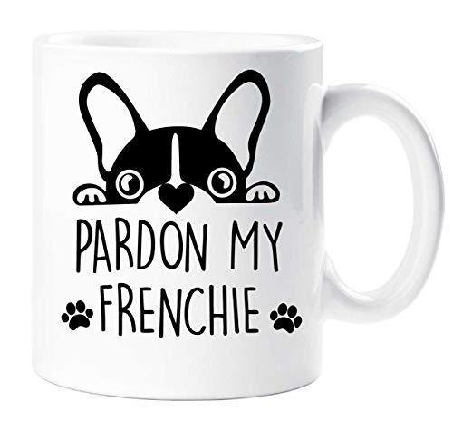Pardon My Franchute Taza Bulldog Francés Señora Mascota Regalo Francés Bull...
