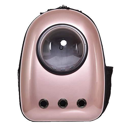 ベストアンサー ペット キャリーバッグ 宇宙船 カプセル型 ペットバッグ ペットバッグ 猫 犬 ペット用品 ドーム型 鞄 旅行 お出かけ おしゃれ (ゴールド)