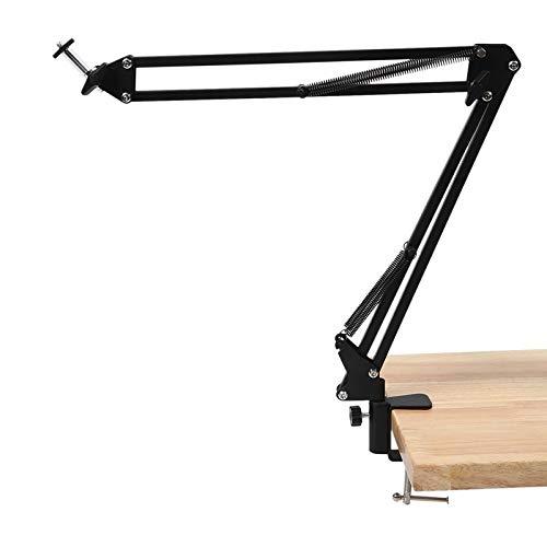 Arlt Soporte de Soporte de Montaje del Brazo de la suspensión de la Abrazadera del Escritorio Ajustable para la Webcam C922 C930E C930 C920 C615 (Color : Black)