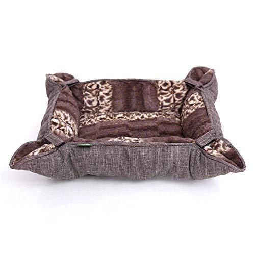 Preciosa Perro suave cama Mat Warm rectángulo Sofá con antideslizante parte inferior de la máquina lavable colchón for dormir for mascotas Perro, B, S (Color: B, Tamaño: Pequeño) cama del animal domés