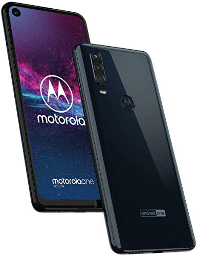 Motorola One Action XT2013-1, 128GB/4GB RAM 6.5'' FHD+ Exynos 9609, Factory Unlocked - (International Version, Grey) (Renewed)