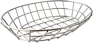 9 L x 6 W Black 9 L x 6 W INC. American Metalcraft BZZ95B Small Rectangular Metal Wire Zorro Bread Basket