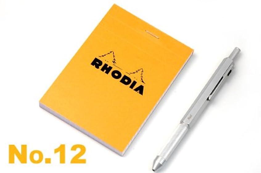 完全に乾く尊敬申請中【RHODIA】ブロックロディア オレンジNo.12方眼