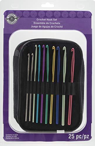 Multicolor Steel Crochet Hook Set by Loops & Threads, 25pc.
