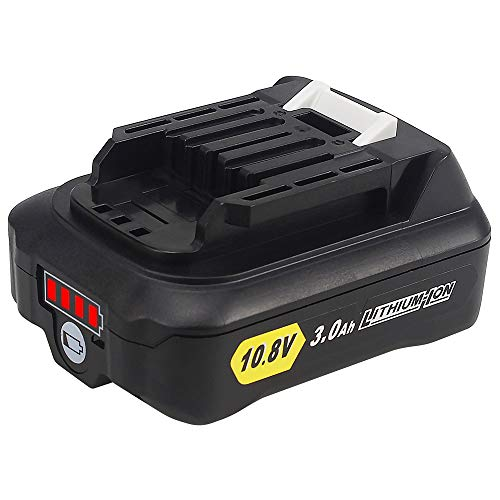 QUPER - Baterías de repuesto de iones de litio de 10.8V 3.0Ah bl1015 Compatible con Makita DC10SA, DC10WC, JR103DZ, TD110DZ, HS301DZ, CP100DZ, CG100DZA, MR052, DF331DZ, DF033DZ.