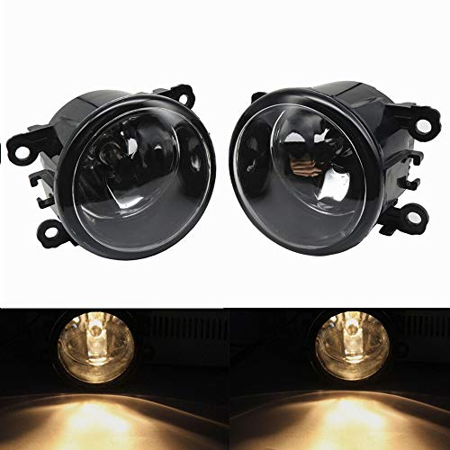 Luces antiniebla 2pc LED Front FOU Fog Lights Compatible con Opel Astra H GTC Hatchback 2005-2009 2010 Coche Styling Redondo DRL DRL DIRA Diversion El plastico (Color : D0044)