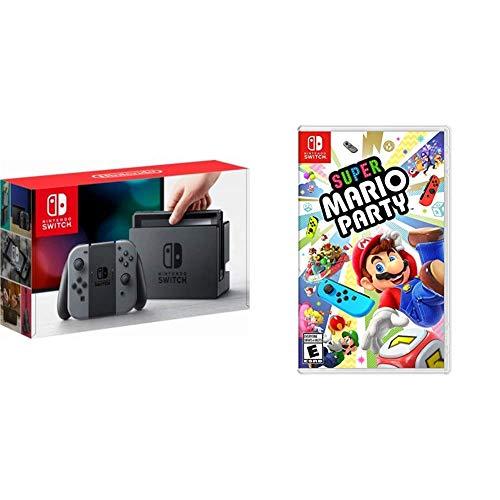 Nintendo Switch Grey + Super Mario Party - Super Mario Party Bundle...