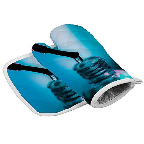 Nagellak Oven Mitts en Pot Houders Dikke Hittebestendige Flexibele Antislip Handschoenen voor Koken Bakken op maat