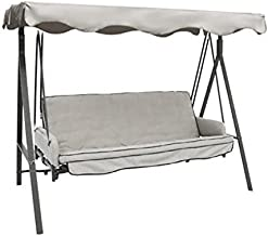 Garden Winds Solid Gray Color - Replacement Canopy for Garden Treasures Traditional 3 Person Swing