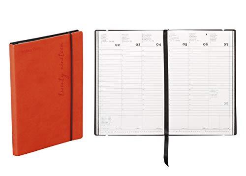 Agenda settimanale 2020 Flexy-Diary, 11 X 16,5 Cm colore arancione