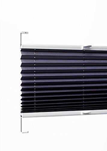 sundiscount Plissee nach Maß | Weiß | P1415 | Glasleistenmontage (80 cm Breite x 100 cm Höhe)