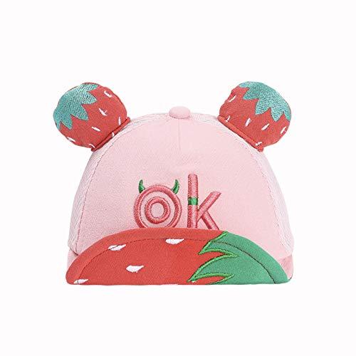 Sombrero para niños Verano algodón Coreano Lindo Gorro de Red de Frutas Gorra Protector Solar bebé Sombrero para el Sol