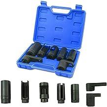 Mekanik Lot de 4 Douilles dinjecteur Diesel pour unit/é /électrique avec capteur doxyg/ène 25,27,29,30 mm