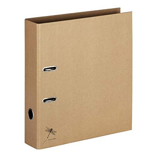Pagna Ordner A4 Pur, praktische 2-Ring-Mechanik, stabiler Graukarton mit Kraftpapier überzogen