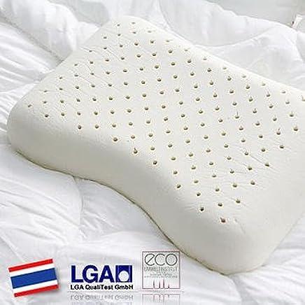HONORS 天然ラテックス100% 高反発枕(そら豆型枕) 肩こり防止 肩こりが酷い方や横になる方にお勧め! 洗濯可能 57x37x11cm