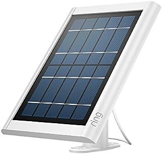 Ring Pannello Solare per Spotlight Cam Battery e Stick Up Cam Battery, mantiene la tua batteria sempre carica, bianco
