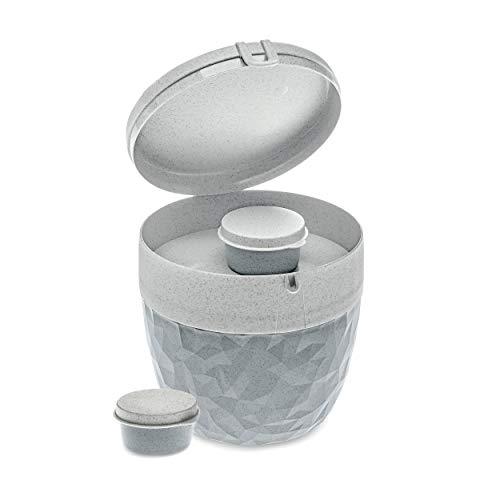 Koziol 3198672 Cub Boîte à Repas Gris Organique