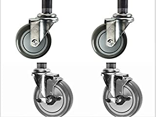 Set of 4 Work Table Stem Caster with 5