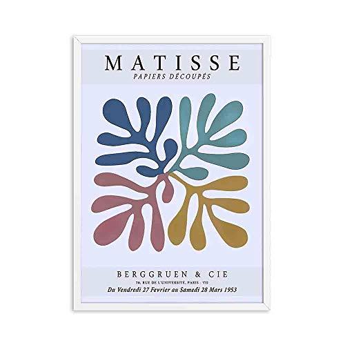 Henry Matisse pintura abstracta ilustración mínima personaje danza impresiones cartel retro familia rosa sin marco lienzo pintura A 50x75cm