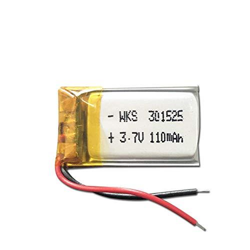 ahjs457 3.7V Lipo Cells 301525 110mah Batería Recargable de polímero de Litio para Pluma de Lectura Pulsera Inteligente Auriculares Bluetooth MP3 MP4 MP5